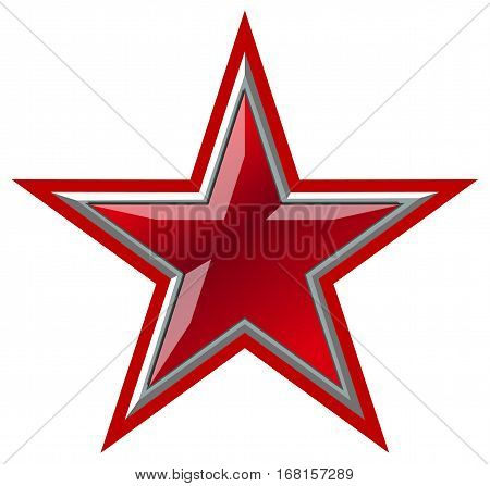 Vector Red Star. Available EPS-10 separated by groups and layers