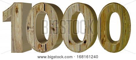 Numeral 1000, One Thousand, Isolated On White Background, 3D Ren