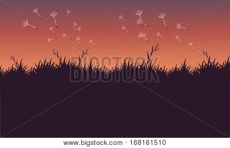 Vector art of spring landscape collection stock