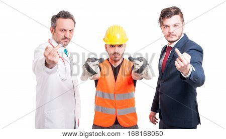 Group Of Successful People Acting Rude And Offensive