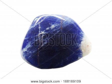 sodalite semigem crystals geological blue mineral isolated