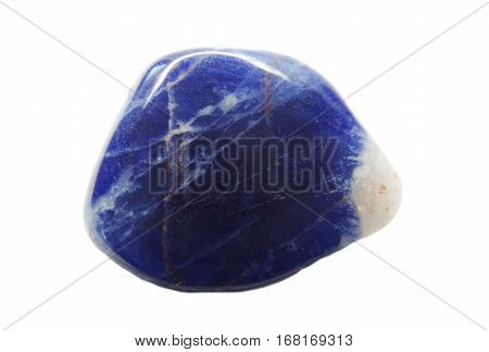 blue sodalite geological mineral semigem crystal isolated