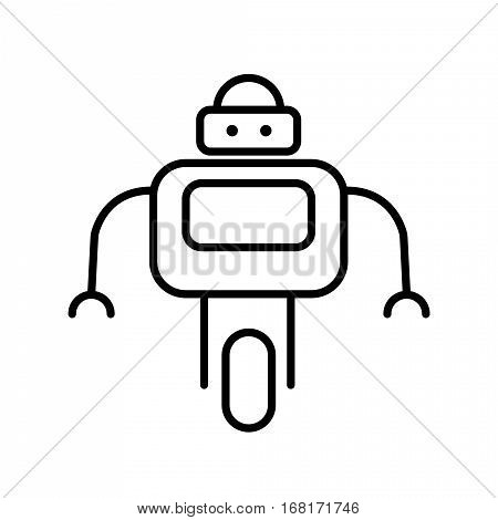 Symbol of Personal Droid Thin line Icon of Future Technology. Stroke Pictogram Graphic for Web Design. Quality Outline Concept. Premium Mono Linear Beautiful Plain Laconic Logo. Vector Symbol