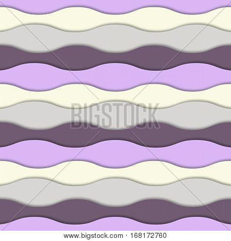 Abstract colorful 3d background Colorful 3d layers with realistic soft shadow Abstract  vector waves seamless layered pattern. Pastel colors Design for banner, cover, brochure, flyer, template