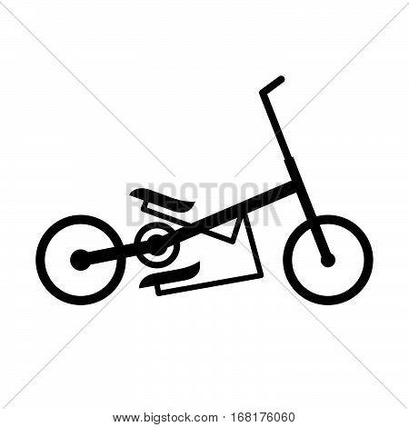 Elliptical bike ( shade picture ) on white