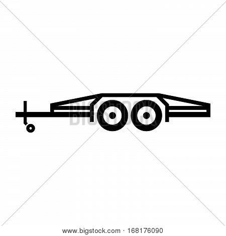 Flatbed tilt trailer ( shade picture )