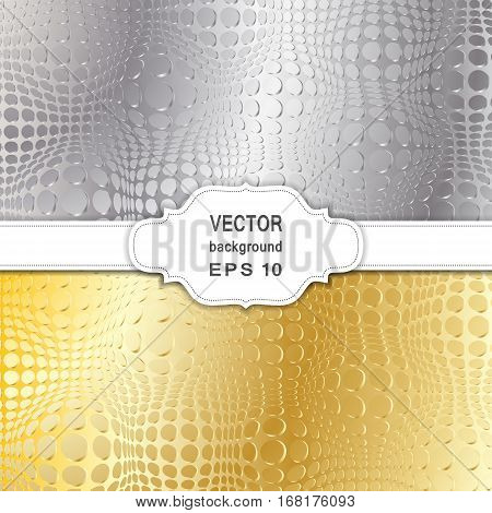 Set of Abstract Halftone Backgrounds. Vector Illustration.
