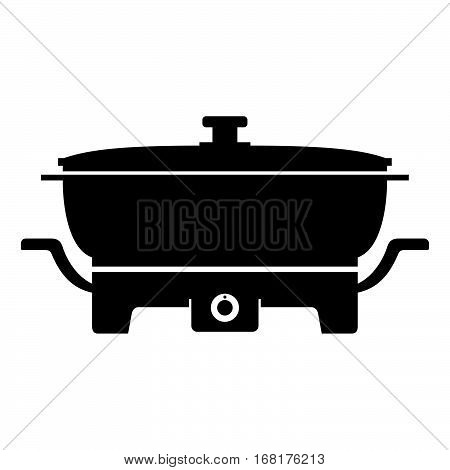 Electric skillet ( shade picture ) on white
