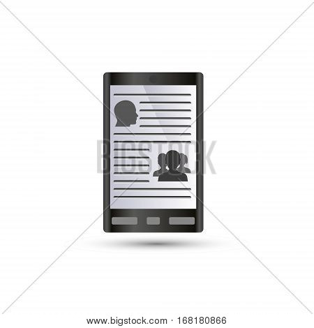 Digital Book Reader Or Tablet Or Smarthphone Icon Eps10