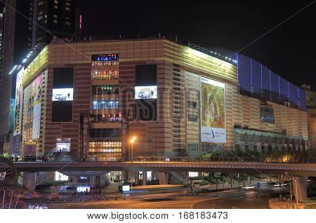 SHANGHAI CHINA - NOVEMBER 1, 2016: Super Brand Mall in Pudong. Super Brand Mall is one of the most prestigious shopping malls in East China.