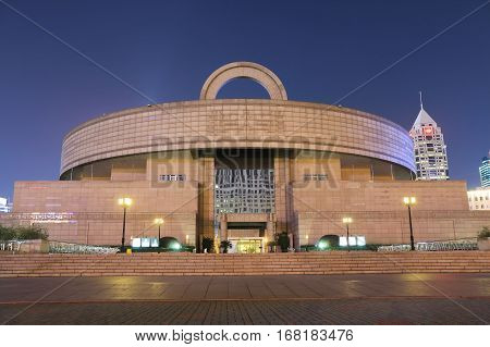SHANGHAI CHINA - NOVEMBER 1, 2016: Shanghai Museum. Shanghai Museum is a museum of ancient Chinese art situated in the People's Square.