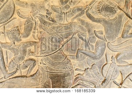 Ancient Bas-relief Stone Carving