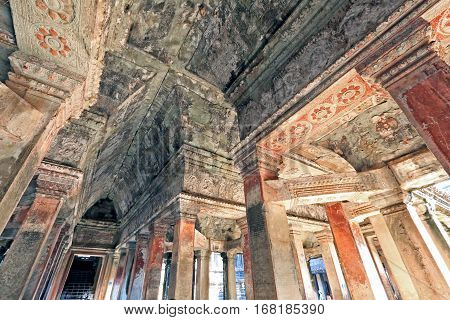Ceiling Of An Ancient Temple