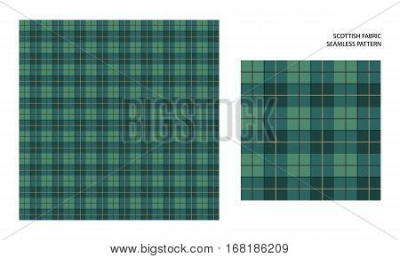Vector seamless pattern. High detailed tartan traditional checkered British fabric or plaid pattern. Design of fabric