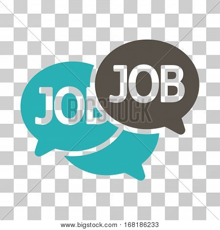Labor Market icon. Vector illustration style is flat iconic bicolor symbol grey and cyan colors transparent background. Designed for web and software interfaces.