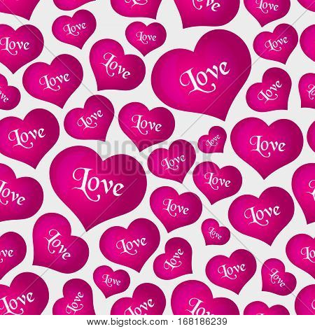 Pink Helium Balloons Heart Shape For Love And Valentine Seamless Pattern Eps10