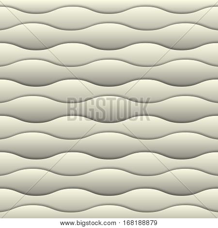 White 3d background. Abstract soft milk wtite 3d seamless waves pattern. 3d paper layers with realistic shadow. Geometric design for banner, cover, invitation, brochure, flyer, template