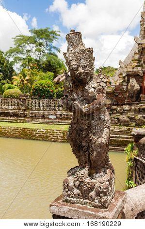 Sculpture in Taman Ayun Temple Bali. Indonesia.