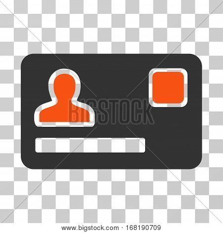 Banking Card icon. Vector illustration style is flat iconic bicolor symbol orange and gray colors transparent background. Designed for web and software interfaces.