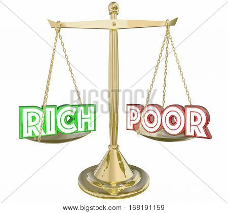 Rich Vs Poor Have or Not Scale Balance Class Warfare 3d Illustration