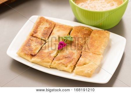 crispy sweet southern flat bread on dish