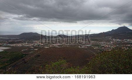 View of the inner Caldera of Teide Tenerife Spain