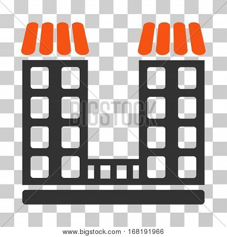 Company icon. Vector illustration style is flat iconic bicolor symbol orange and gray colors transparent background. Designed for web and software interfaces.