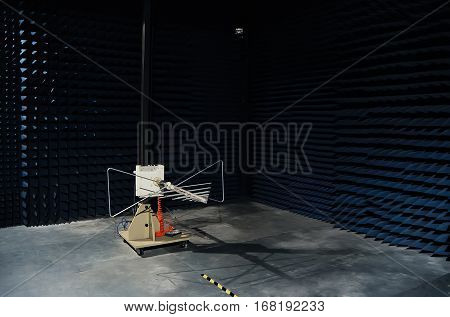 Testing of radio frequency products such as RF and ASK modules in soundproof lab