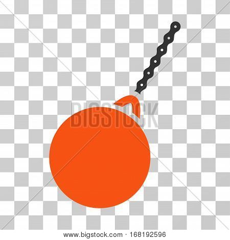 Destruction Hammer icon. Vector illustration style is flat iconic bicolor symbol orange and gray colors transparent background. Designed for web and software interfaces.