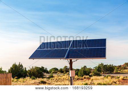 Blue solar panels.