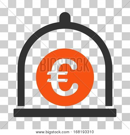 Euro Standard icon. Vector illustration style is flat iconic bicolor symbol orange and gray colors transparent background. Designed for web and software interfaces.
