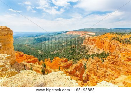Bryce Canyon landscape from the top of mountain
