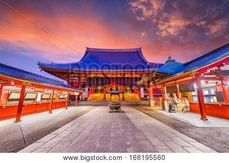 TOKYO, JAPAN - JANUARY 11, 2017: Sensoji Temple in Asakusa.
