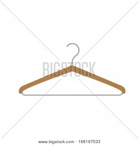 color silhouette with hook closet shirt vector illustration