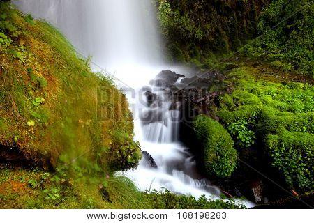 Beautiful water falls in Oregon, USA.