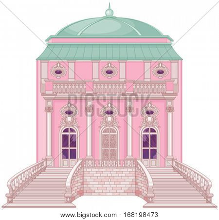 Cute romantic palace for a princess