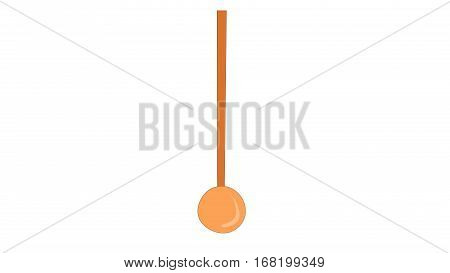 A  pendulum clock on a white background.