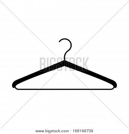 monochrome silhouette with hook closet shirt vector illustration