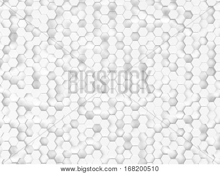 Hexes technology abstract background - 3d render