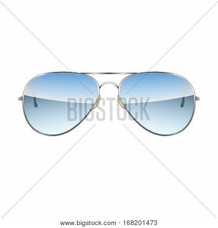 Aviator Glasses isolated on a white background Vector Illustration