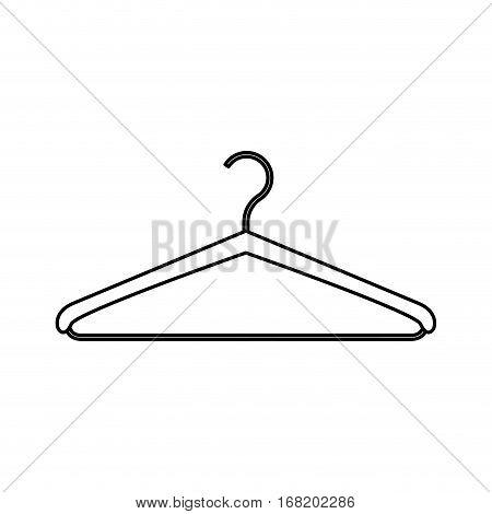 monochrome contour with hook closet shirt vector illustration