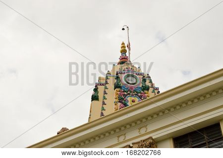 Dome of an Indian temple in the town of Mombasa Kenya