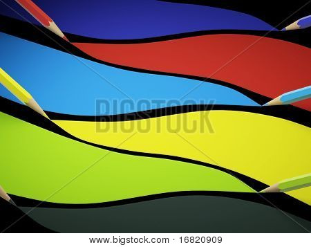 hi res rednering of pastel