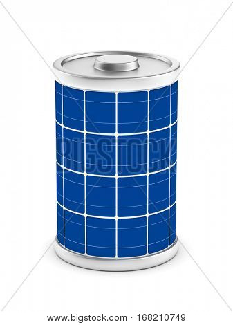 solar battery on white background. Isolated 3d image.