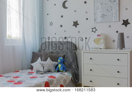 Boy Room Corner With Bed
