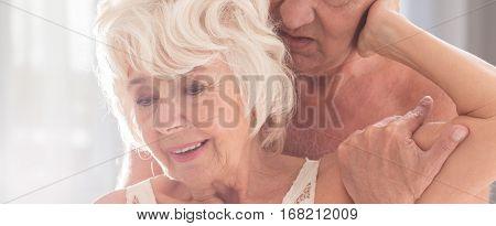 Happy Senior Woman Having Sex With Husband