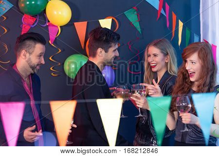 Flirting On A Party