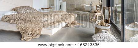 Bed In A Designer Bedroom