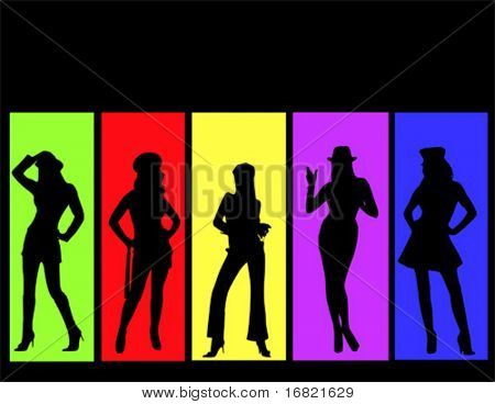 Woman color background