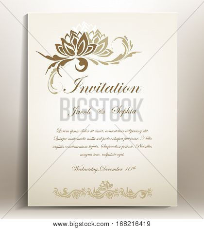 Floral wedding invitation. a beautiful  wedding invitation suitable also for congratulation,greeting cards...